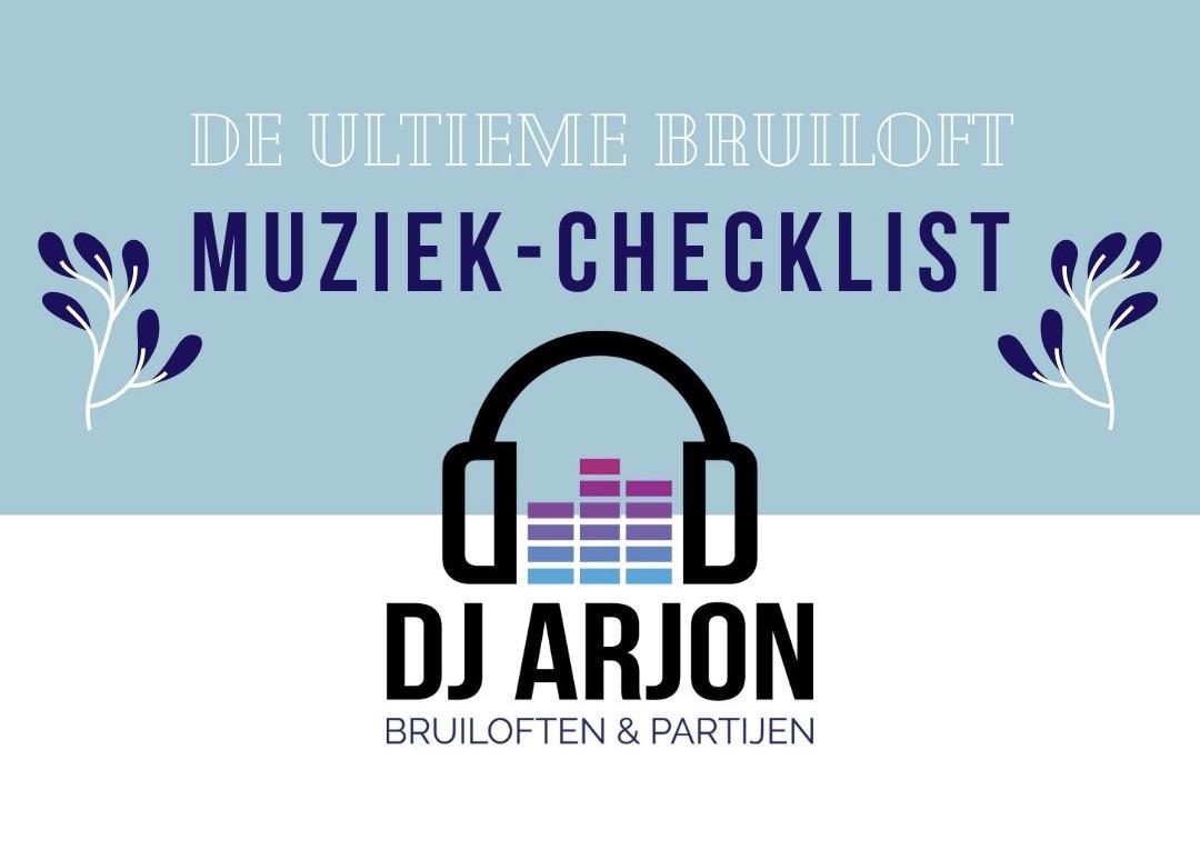 DJ Arjon Bruiloft checklist